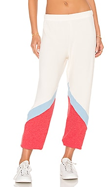 Michael Lauren Samwell Sweatpant in Silk, Cayenne & Vintage Blue