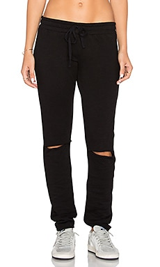 Jonas Knee Slit Jogger in Black