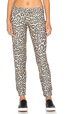 Bear Sweatpant in Tan Leopard