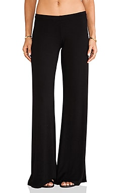 Michael Lauren Derby Wide Leg Pant in Black