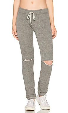 Jonas Knee Slit Sweatpant in Heather Grey