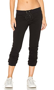 Night Lace Front Pant in Black