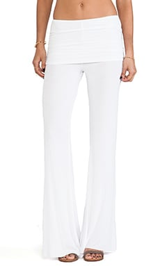 Michael Lauren Costa Fold Over Bell Pant in White