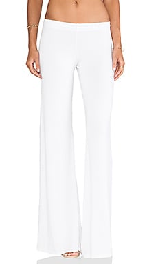 Michael Lauren Derby Wide Leg Pant in White