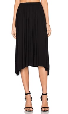 Michael Lauren Rico Swing Skirt in Black