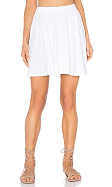 Michael Lauren Sergio Mini Swing Skirt in White