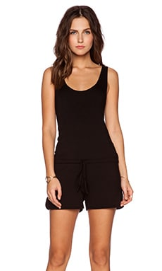Michael Lauren Bello Tank Romper in Black