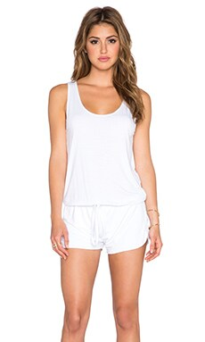 Michael Lauren Bello Tank Romper in White