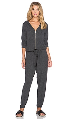 Michael Lauren Fargo Zip Up Jumpsuit in Black