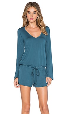 Michael Lauren x REVOLVE Nelson Long Sleeve Romper in Blue Moon
