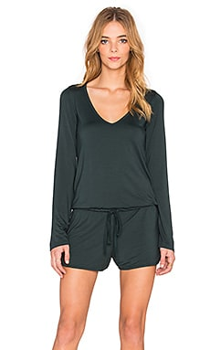 Michael Lauren x REVOLVE Nelson Long Sleeve Romper in Dark Forest