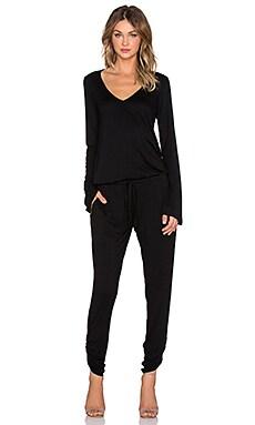 Michael Lauren Rook V Neck Jumpsuit in Black