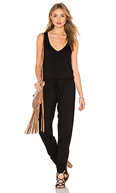 Ivan Tank Jumpsuit in Black