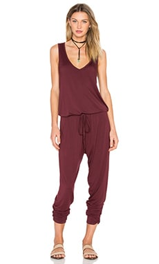 Michael Lauren Ivan Tank Jumpsuit in Sangria