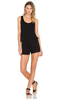 Michael Lauren Marlin Tank Romper in Jet Black
