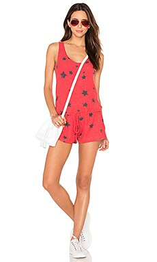 Michael Lauren Marlin Romper in Cayenne Stars