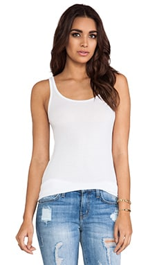 Michael Lauren Mason Basic Rib Tank in White