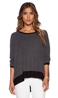 Michael Lauren Fred Long Sleeve Tee in Black