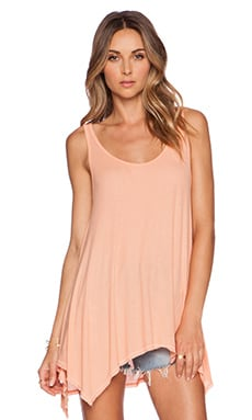 Michael Lauren Brant Tank in Peach Sky