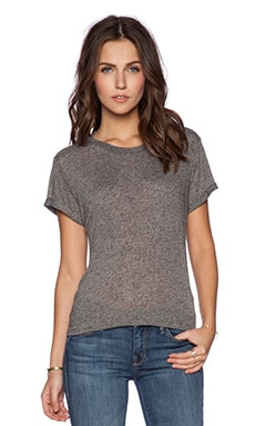 Michael Lauren Darcy Open Back Tee in Heather Grey