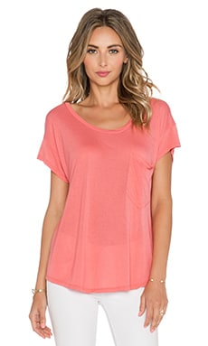Michael Lauren Tanner Pocket Tee in Tea Rose