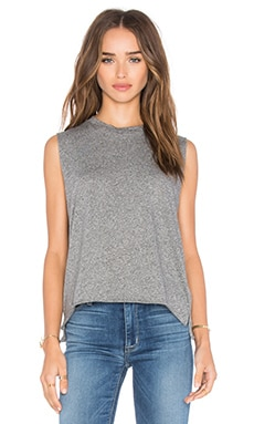 Michael Lauren Dom Vintage Crop Muscle Tank in Heather Grey