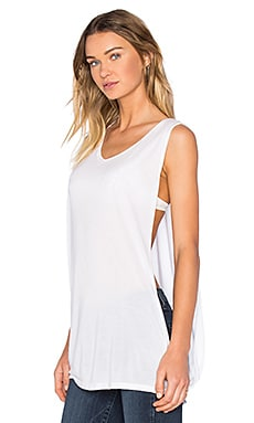 Frank Muscle Tank in White