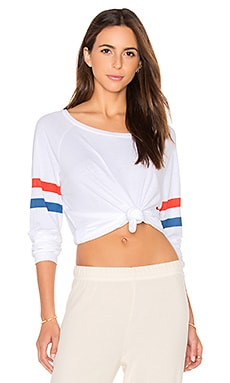 Michael Lauren Kelton Tee in White & Stripe