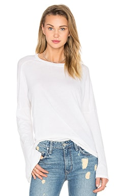 Michael Lauren Reed Bell Sleeve Tee in Faded White