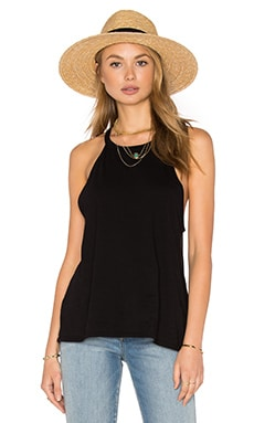 Cactus High Neck Tank in Black