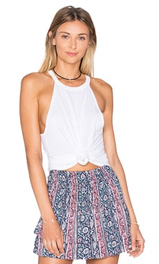 Michael Lauren Cactus Cropped Tank in White