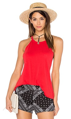 Michael Lauren Cactus High Neck Tank in Gypsy Red