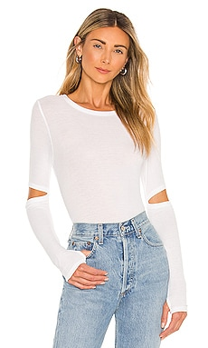 Solomon Elbow Cut Out Tee Michael Lauren $68 BEST SELLER
