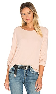 Maximo Drop Shoulder Top in Faun