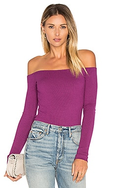 Santorini Off Shoulder Top in Sugar Plum