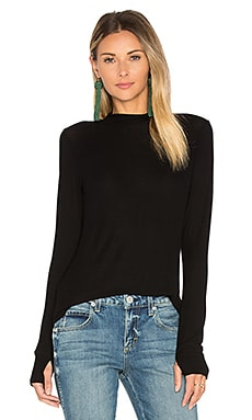 Berger Fitted Mock Neck Top