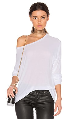 Maximo Drop Shoulder Top in White