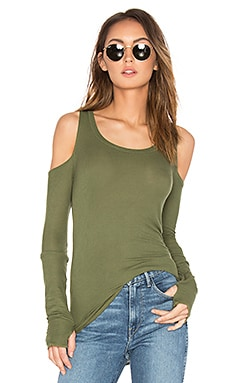 Filippo Open Shoulder Tee in Military