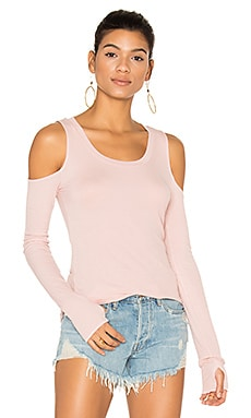 Filippo Open Shoulder Top in Pink Ash