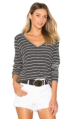 Wicus Long Sleeve Tee in Black & White Stripe