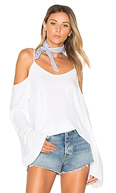 Sampson Cold Shoulder Top in White