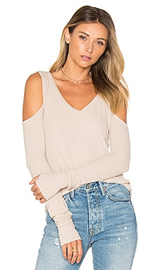 Ramiro Open Shoulder Tee in Oatmeal