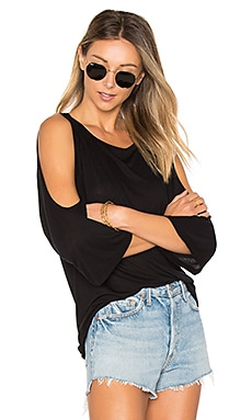Taren Bell Sleeve Top in Black