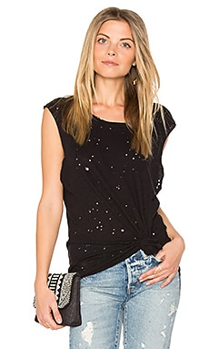 Bull Scoop Neck Tank in Black