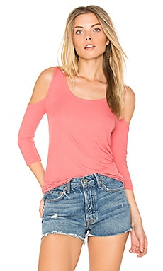 Renzo Open Shoulder Tee in Primrose