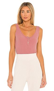 Ribbed Knit Henley Bodysuit Mina Lisa $24 (FINAL SALE)
