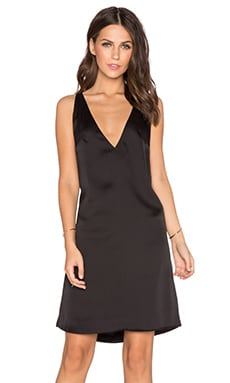 MLM Label 2 Way V Neck Dress in Black