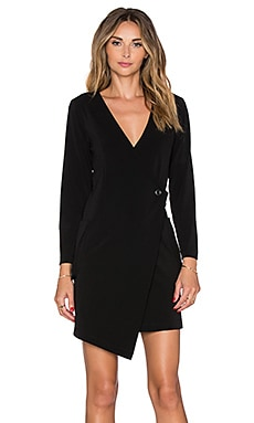MLM Label Jacket Dress in Black
