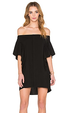 MLM Label Neo Off Shoulder Mini Dress in Black