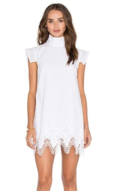 Wandering Mini Dress in Natural White